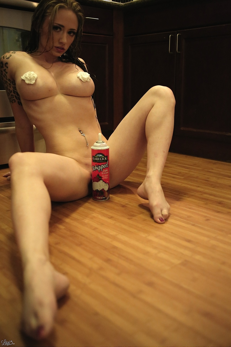 naked woman whipped cream