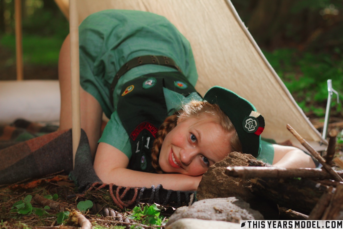 this years model dolly little girl scout 7