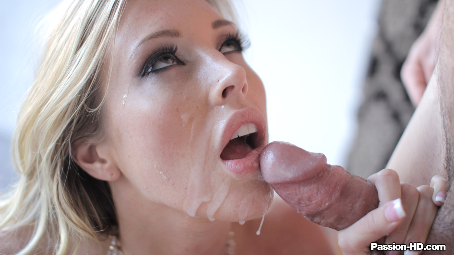Blow cum face job