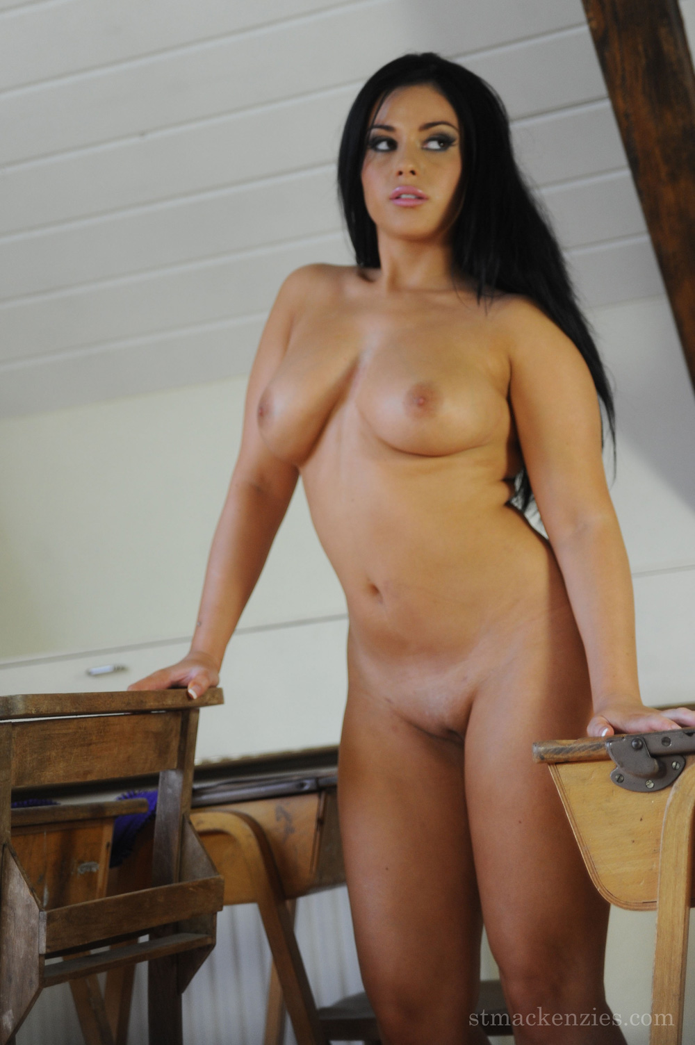 Horny girls have fun with big dildousb