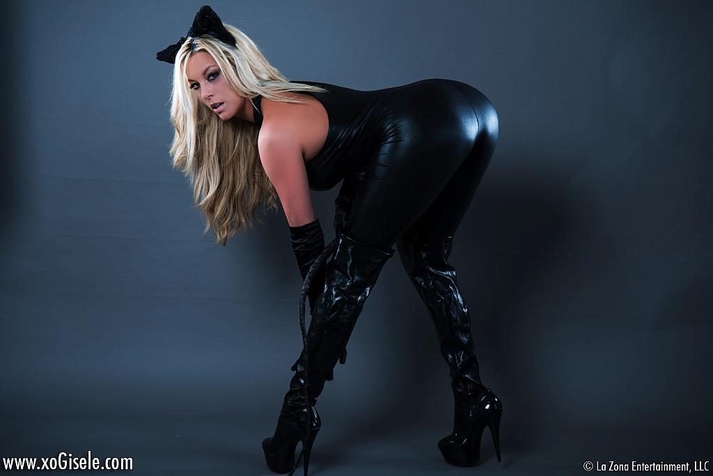 black leather gisele Xo