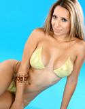 Pam rodriguez in her gold bikini