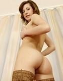 Naked stockings round ass