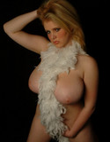 Dream of ashley naked with a boa