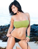 Denise milani hot on the sand