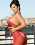 Denise milani red dress