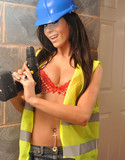 Wild anna stripping construcion hottie