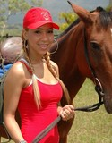 Tania spice rides a horse