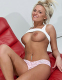 Kendra rain pics red and white