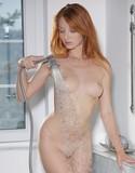Met art redhead gets wet