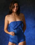 Nextdoor models carol bree blue romper