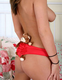 Topless kara and her teddy bear